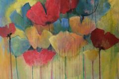 #72 Kulørte tulipaner 50x50 cm.