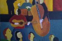 #52 Svingende jazz 50x50 cm.